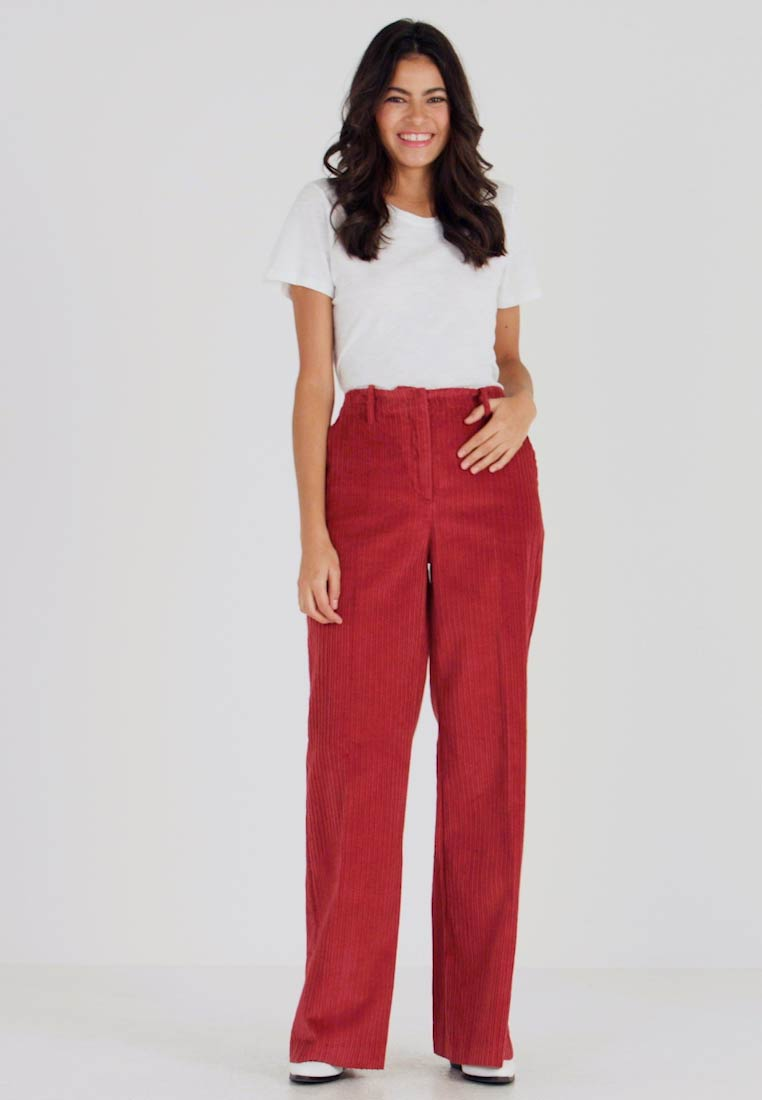 Benetton - WIDE LEG PANT - Trousers - toffee brown - 1