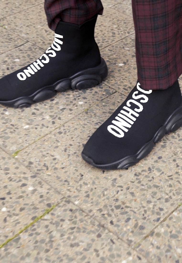 MOSCHINO - High-top trainers - fantasy color - 1