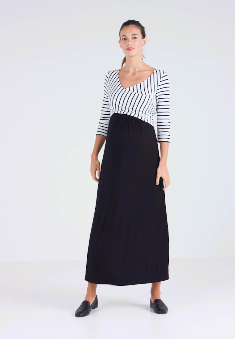 9Fashion - MILENNA - Maxi šaty - black/white - 1