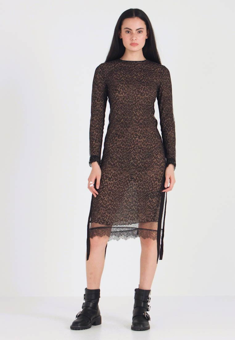 AllSaints - KIARA LINLEO DRESS - Kjole - taupe/brown - 1