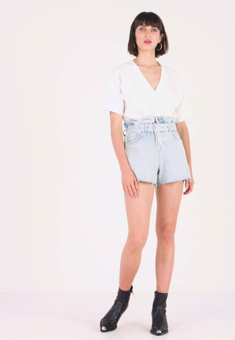 AllSaints - HANNAH PAPER BAG - Short en jean - light-blue denim - 1
