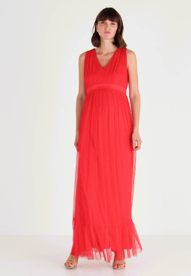Anaya with love Maternity - V FRONT DRESS WITH BOW AND GATHERED - Occasion wear - poppy red - 1