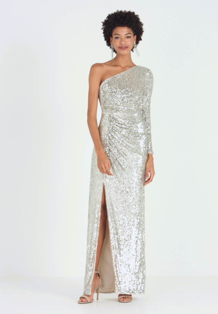 Adrianna Papell - SEQUIN DRAPED GOWN - Suknia balowa - silver - 1