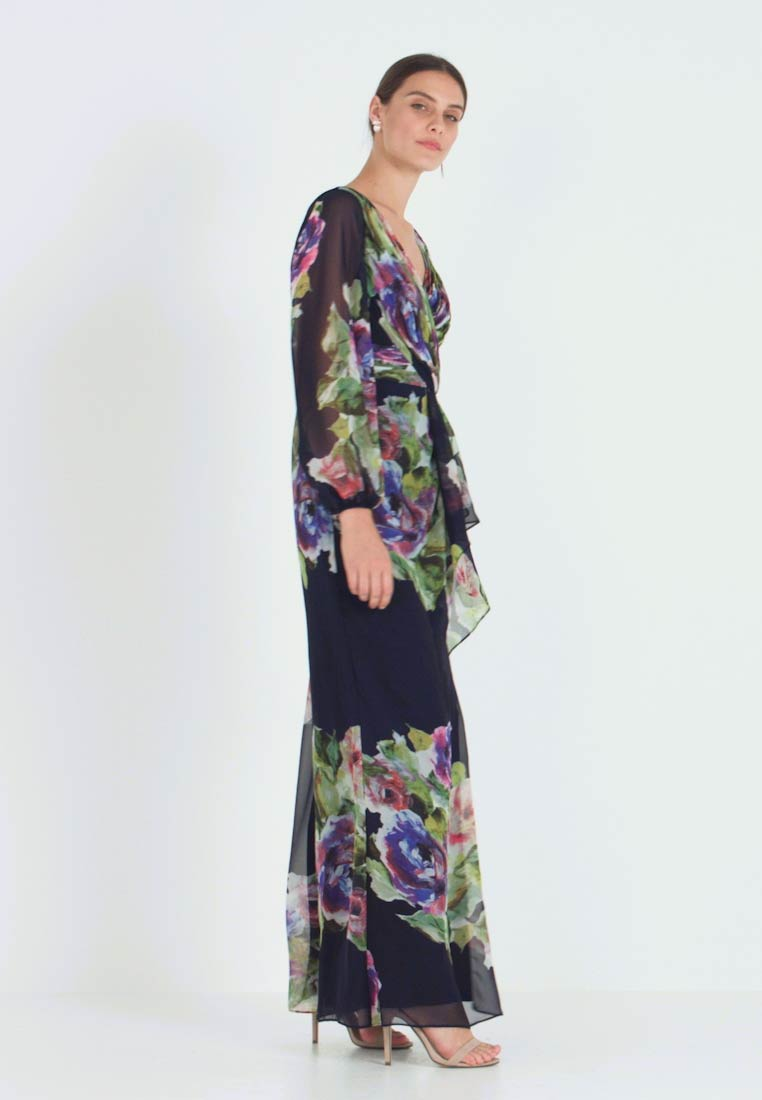 Adrianna Papell - FLORAL PRINTED GOWN - Ballkleid - navy multi - 1