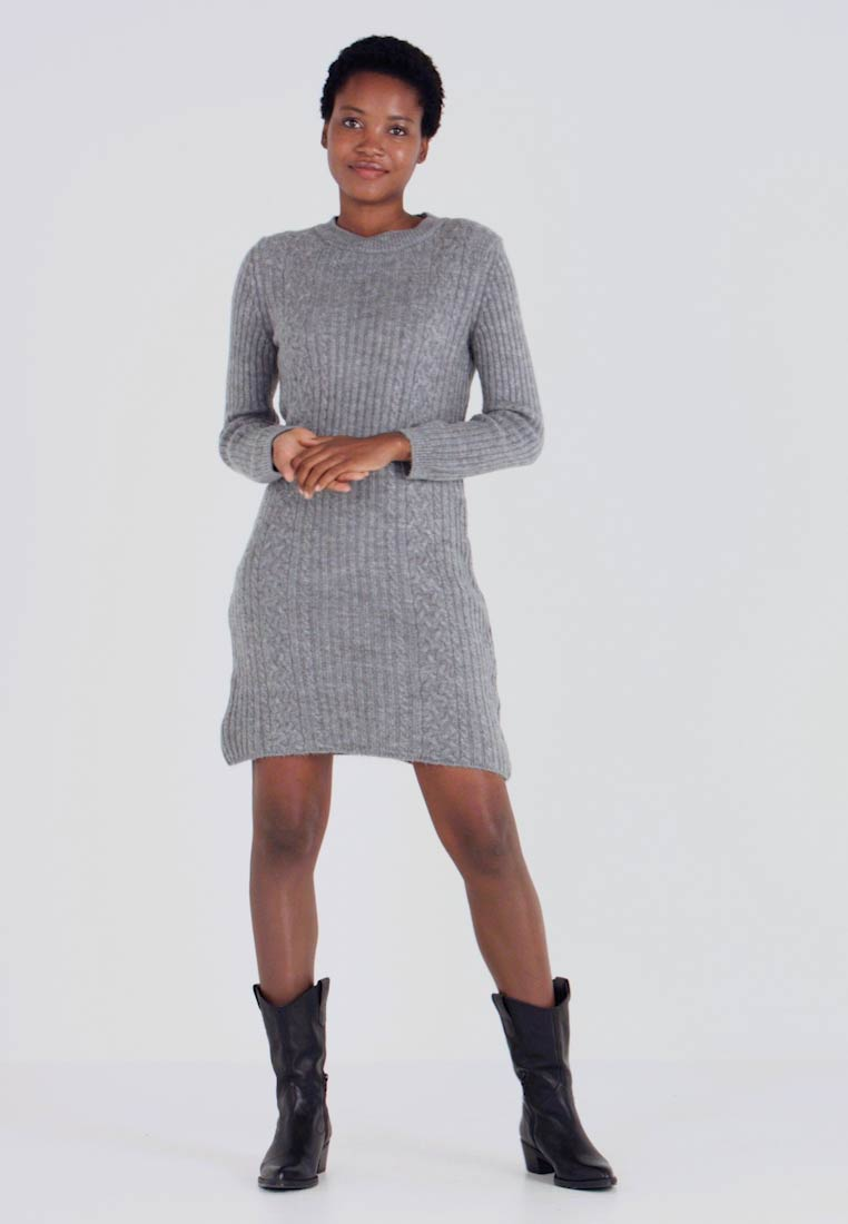 Anna Field - Jumper dress - dark grey marl - 1