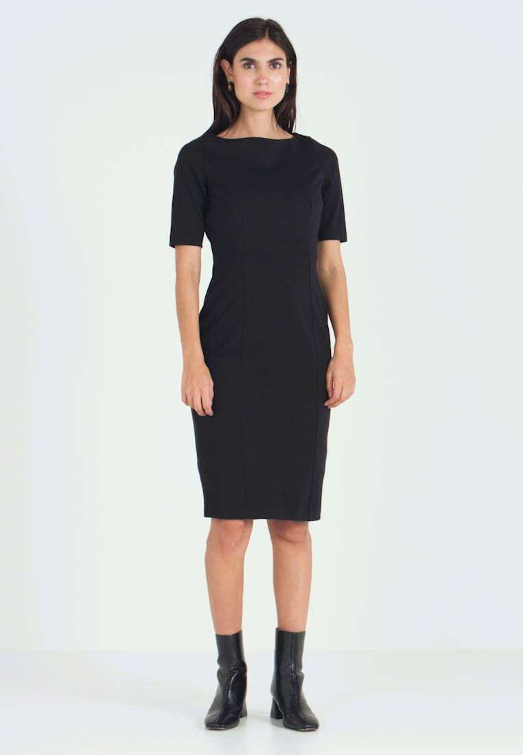 Banana Republic - BOATNECK PONTE SHEATH - Shift dress - black - 1