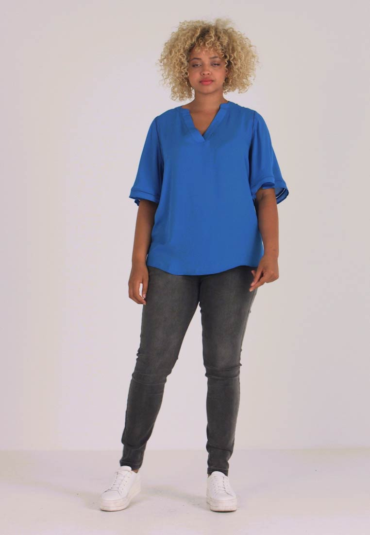 CAPSULE by Simply Be - LADDER INSERT TUNIC - Bluser - cobalt blue - 1
