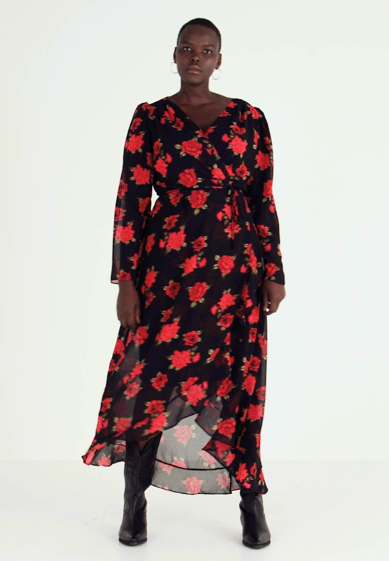City Chic - EXCLUSIVE DRESS FLORAL - Maxi dress - passion - 1