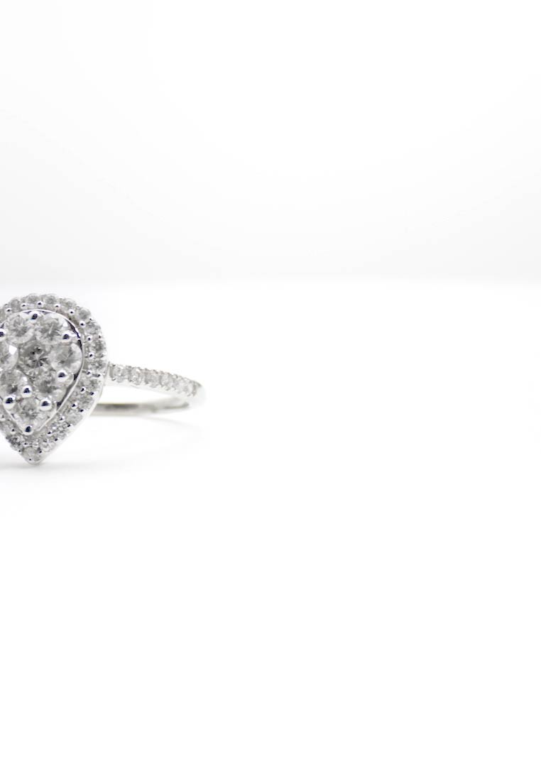DIAMANT L'ÉTERNEL - WHITE GOLD Engagement Ring - Ring - silver-coloured - 1