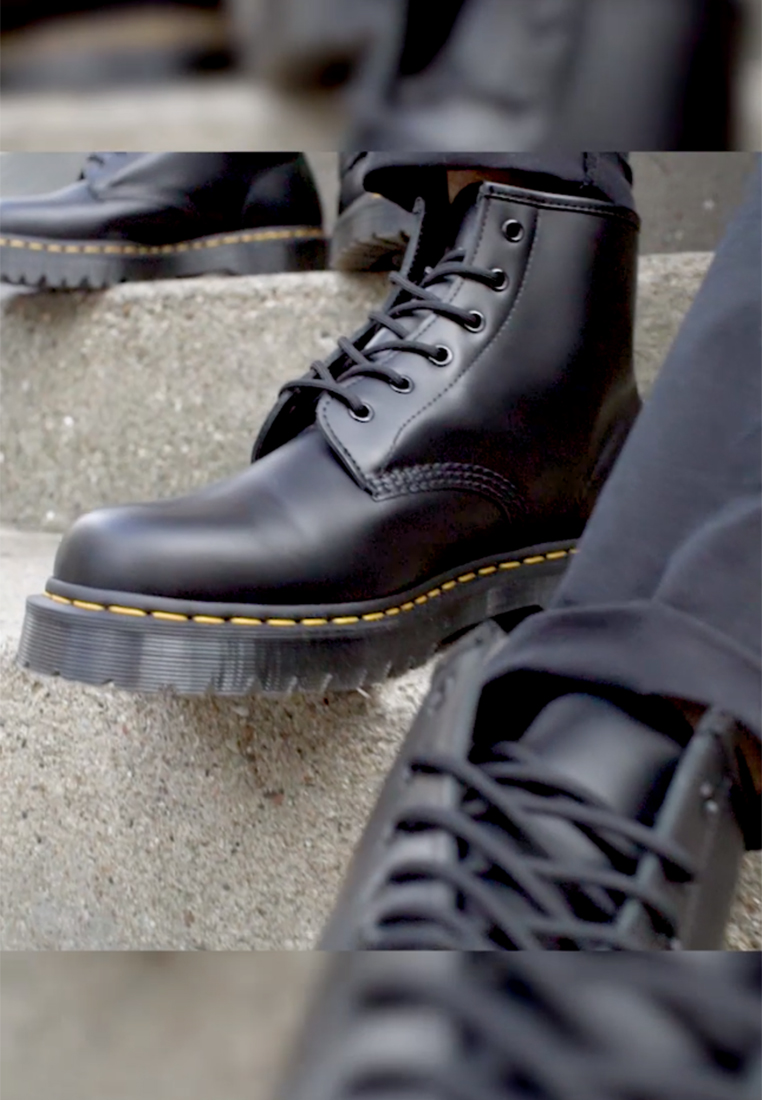 Dr. Martens - 101 BEX - Lace-up ankle boots - black smooth - 1