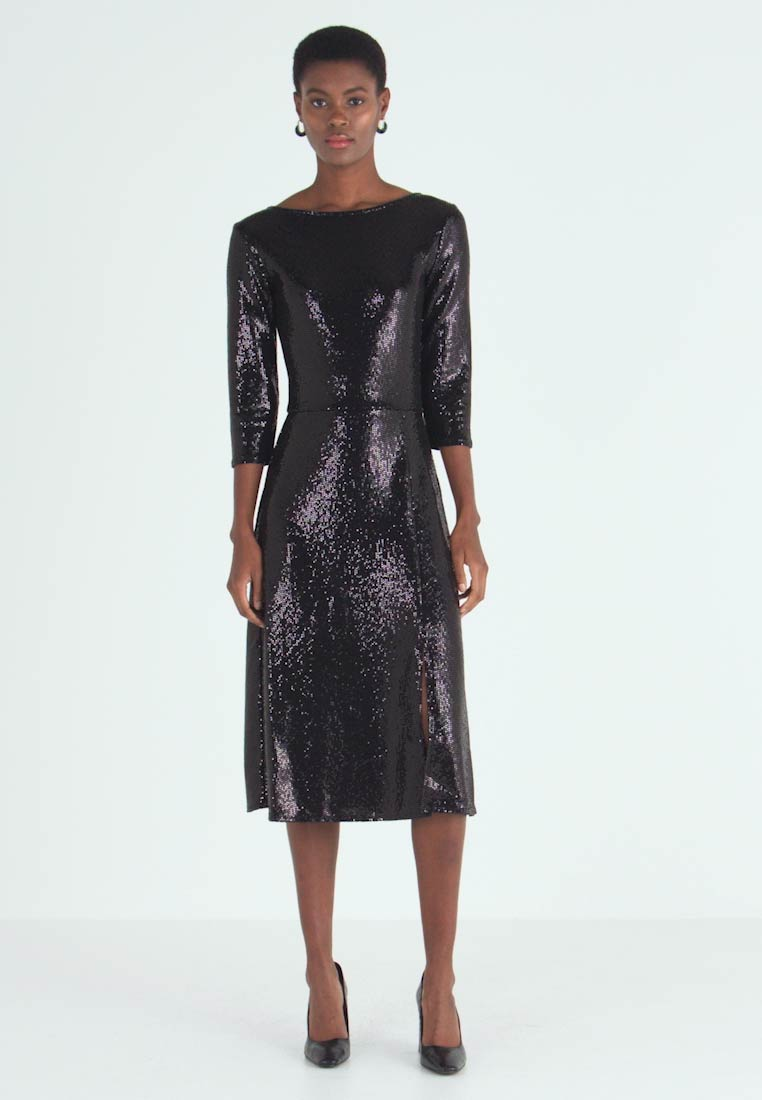 Dorothy Perkins Tall - BLACK ON BLACK SEQUIN MIDI - Cocktail dress / Party dress - black - 1