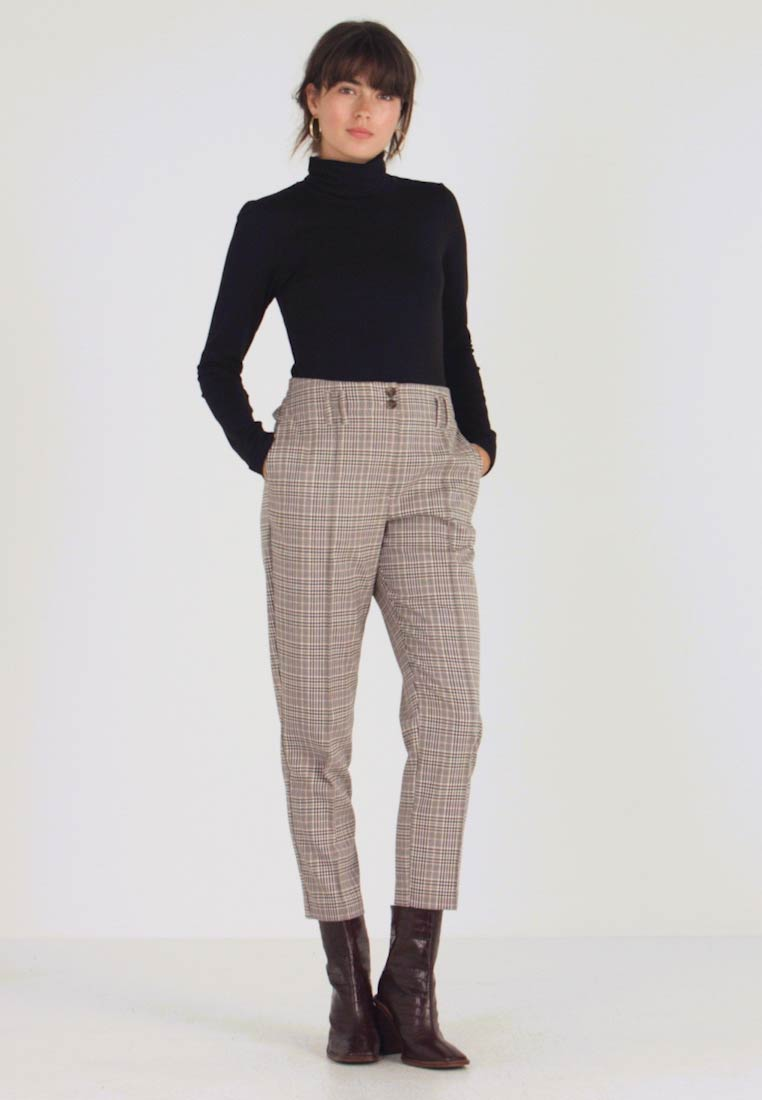Dorothy Perkins - BELTED CHECK - Pantalon classique - multi dark - 1
