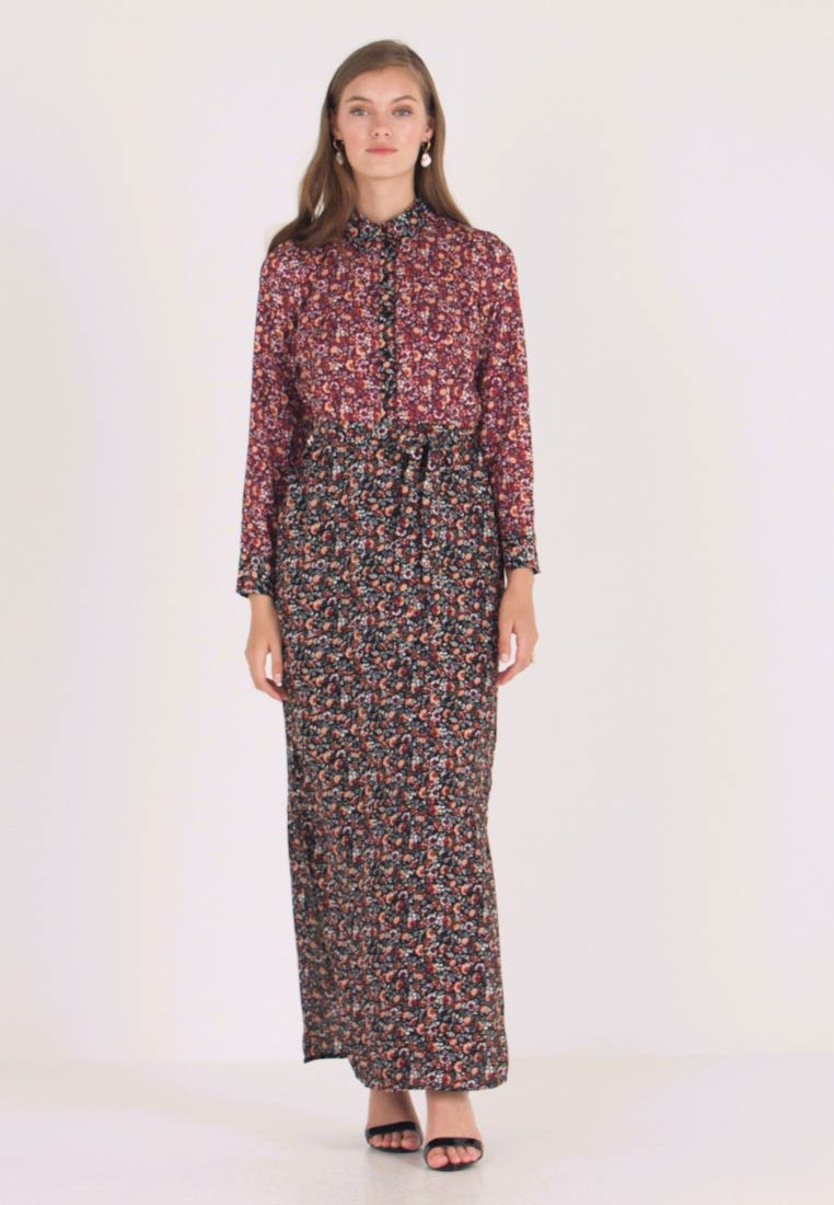 Dorothy Perkins - DRESS - Maxi dress - black burgundy - 1