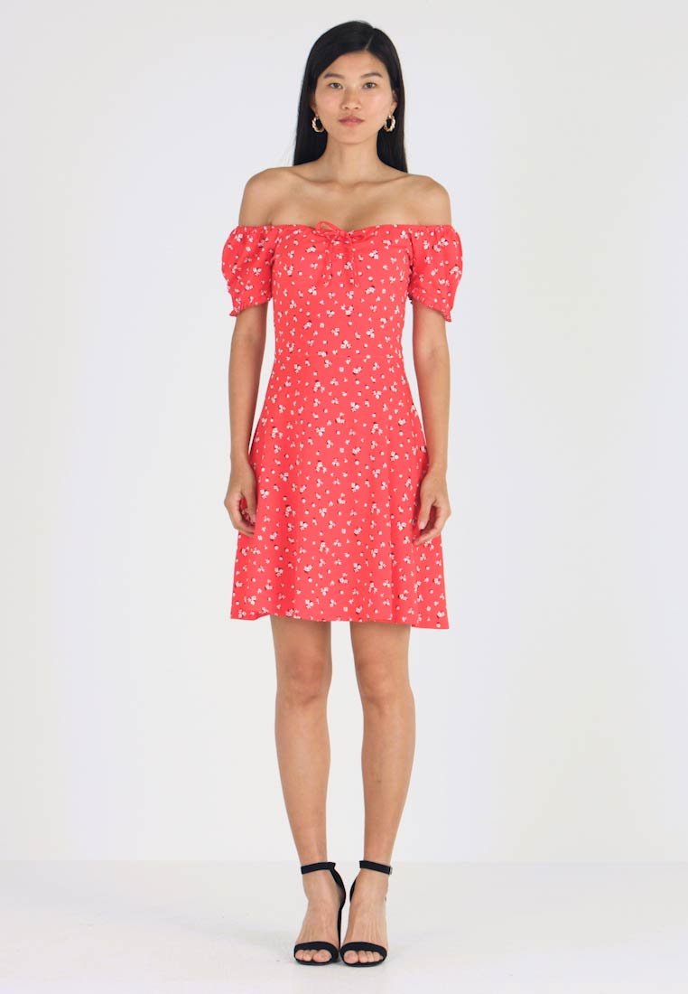 Dorothy Perkins - DITSY SCOOP NECK GYPSY DRESS - Robe en jersey - red - 1