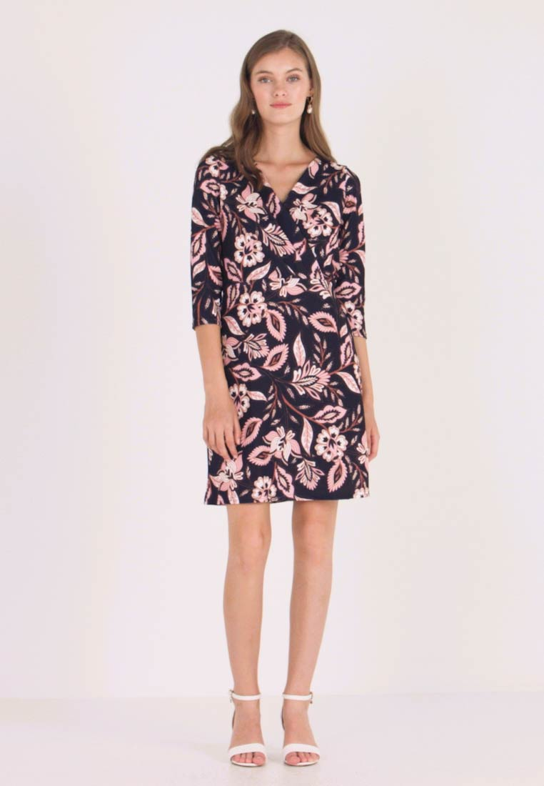 Dorothy Perkins - WRAP DRESS BODYCON - Jerseykjoler - navy revival - 1