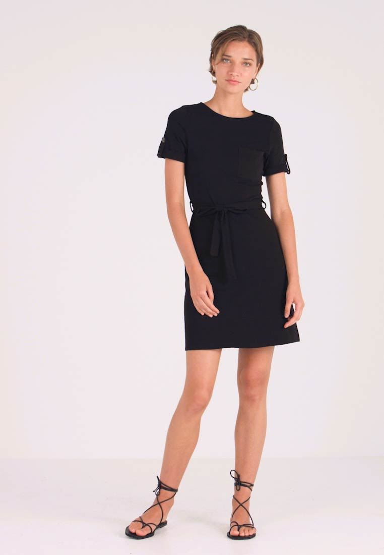 Dorothy Perkins - PLAIN TIE DRESS - Jersey dress - black - 1