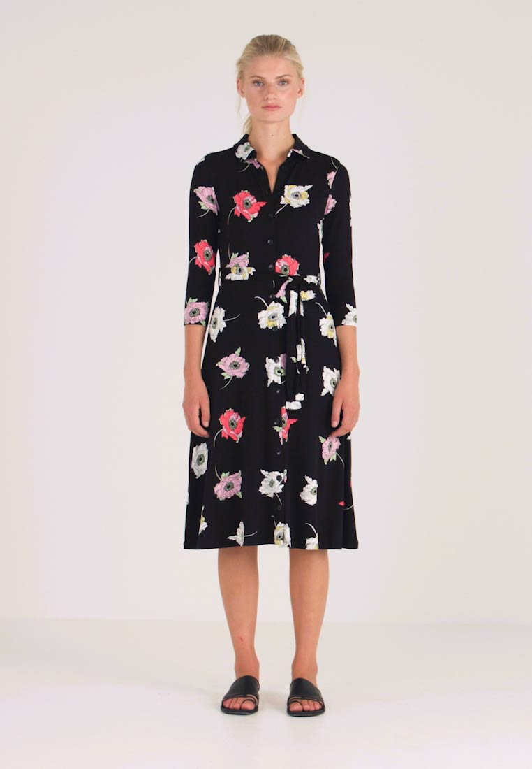 Dorothy Perkins - LARGE FLORAL DRESS - Maxikjole - black - 1