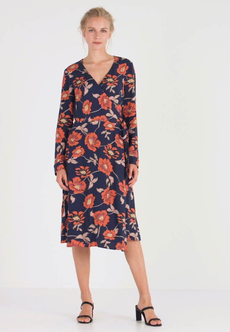 edc by Esprit - WRAP DRESS - Day dress - navy - 1