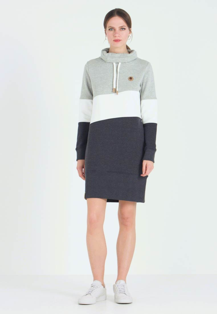 edc by Esprit - COLORBLCK DRESS - Kjole - light grey - 1