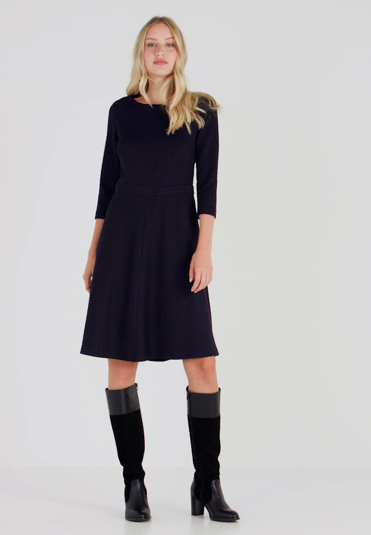 bästa online 100% hög kvalitet köpa billigt Esprit Collection DRESS - Stickad klänning - navy - Zalando.se