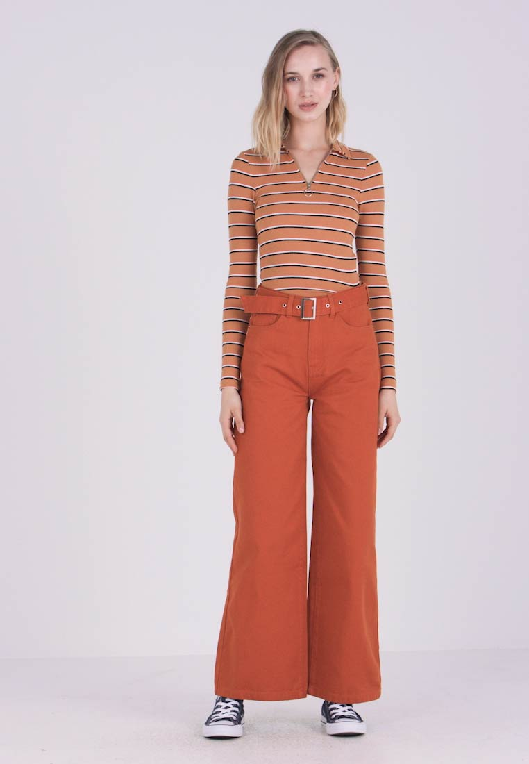 Even&Odd - Flared Jeans - light brown - 1
