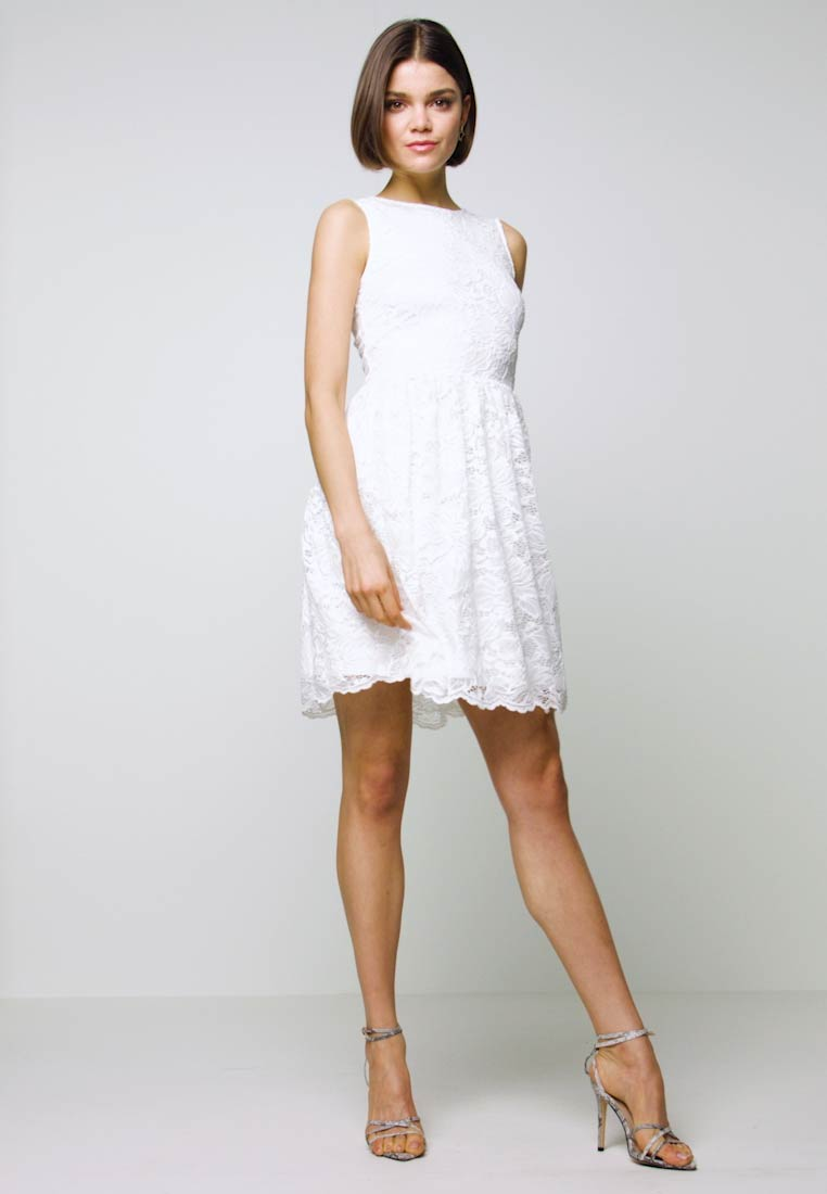 Even&Odd - BASIC OCCASSION MINI DRESS - Vestito elegante - white - 1
