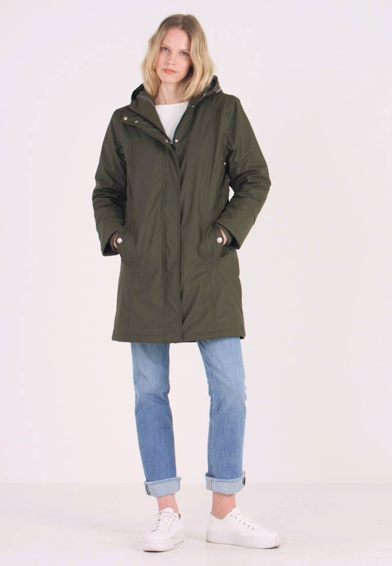 Freequent - Parka - olive night - 1