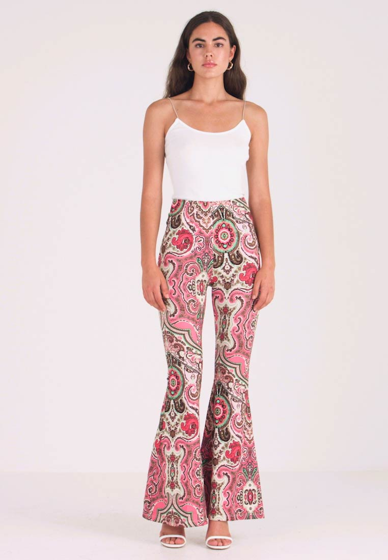 Free People - HARPER PRINTED PULL ON - Trousers - pink - 1