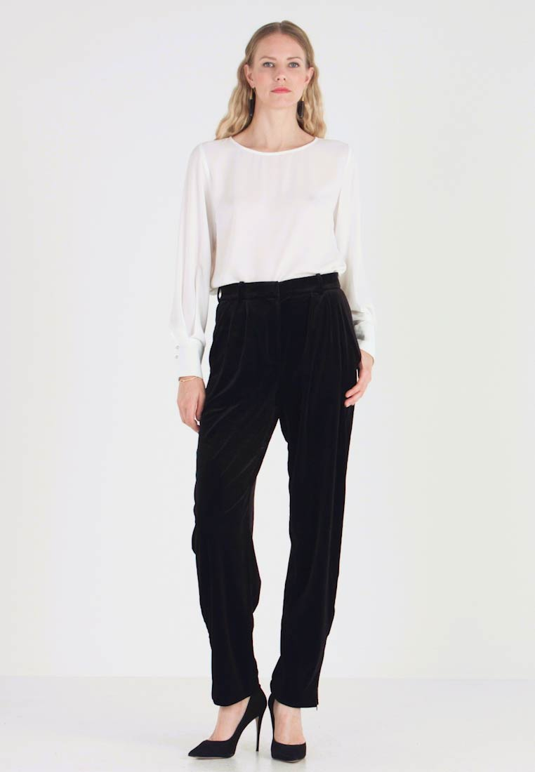 French Connection - AMATO WIDE LEG TROUSER - Trousers - black - 1