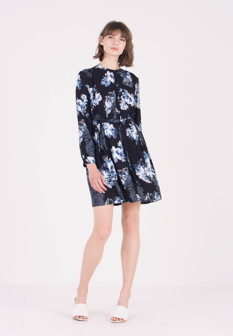 French Connection - CATERINA CREPE  - Day dress - utility blue multi - 1