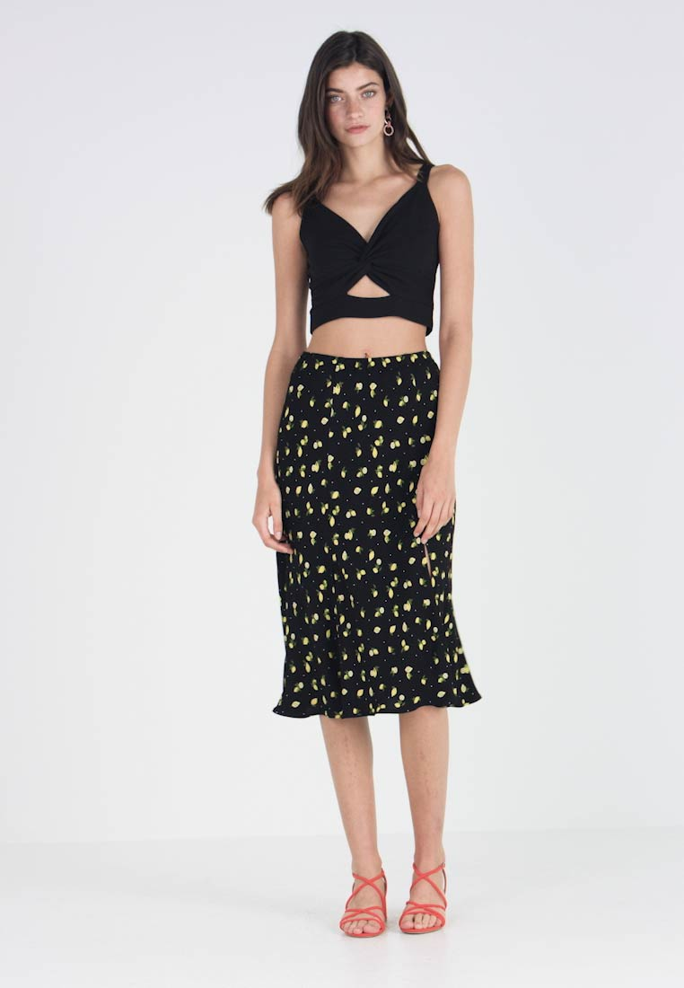 Ghost - JODIE SKIRT - A-snit nederdel/ A-formede nederdele - black/yellow - 1