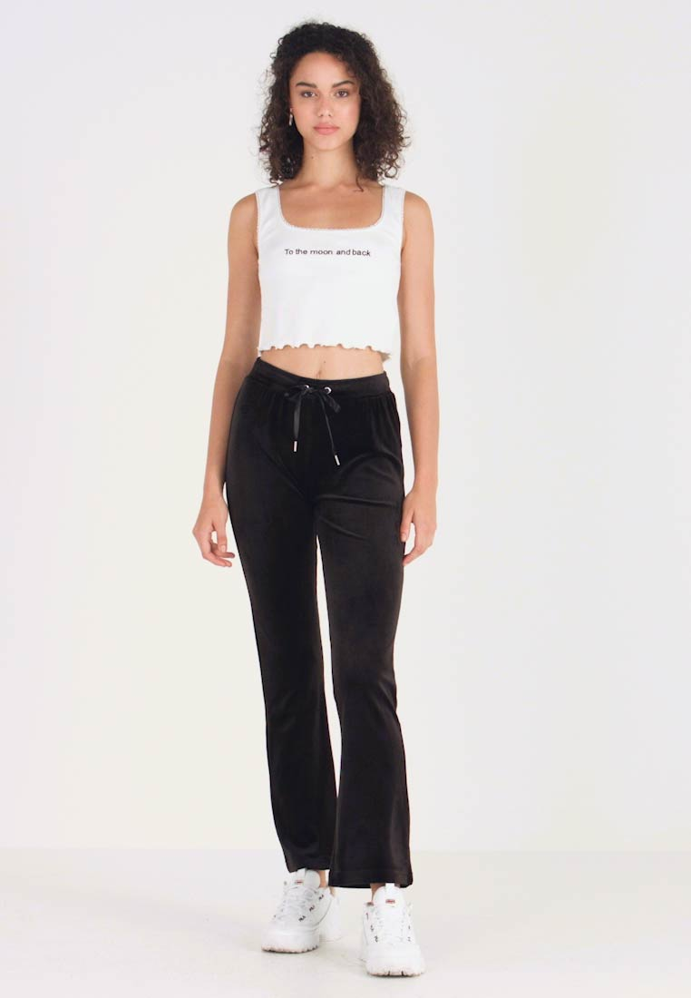 Gina Tricot - CECILIA TROUSERS - Tracksuit bottoms - black - 1