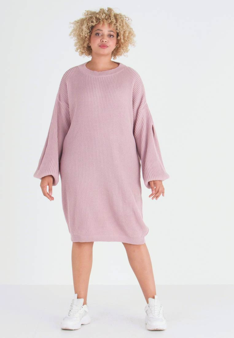 Glamorous Curve - EXCLUSIVE DRESS  - Gebreide jurk - mauve - 1