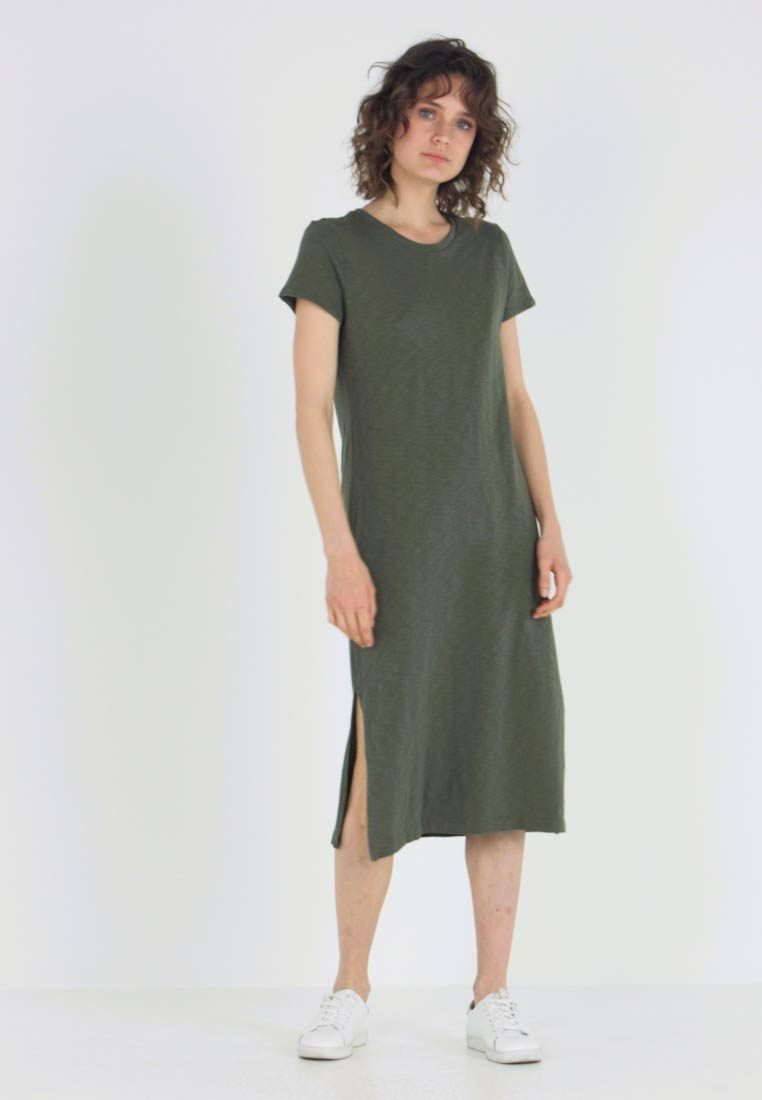 midi dress - jerseykleid - tweed green