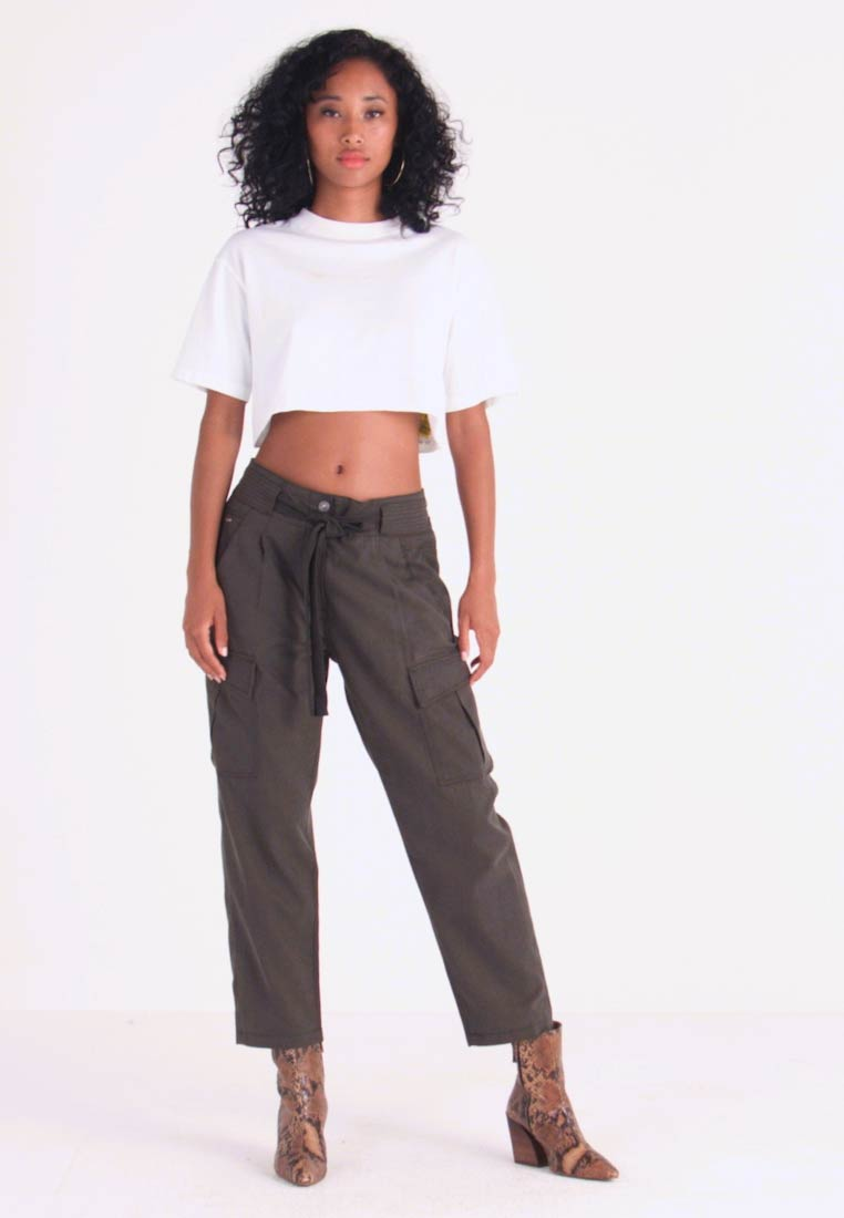G-Star - CHISEL BF PANT WMN - Kalhoty - new drapy twill - 1