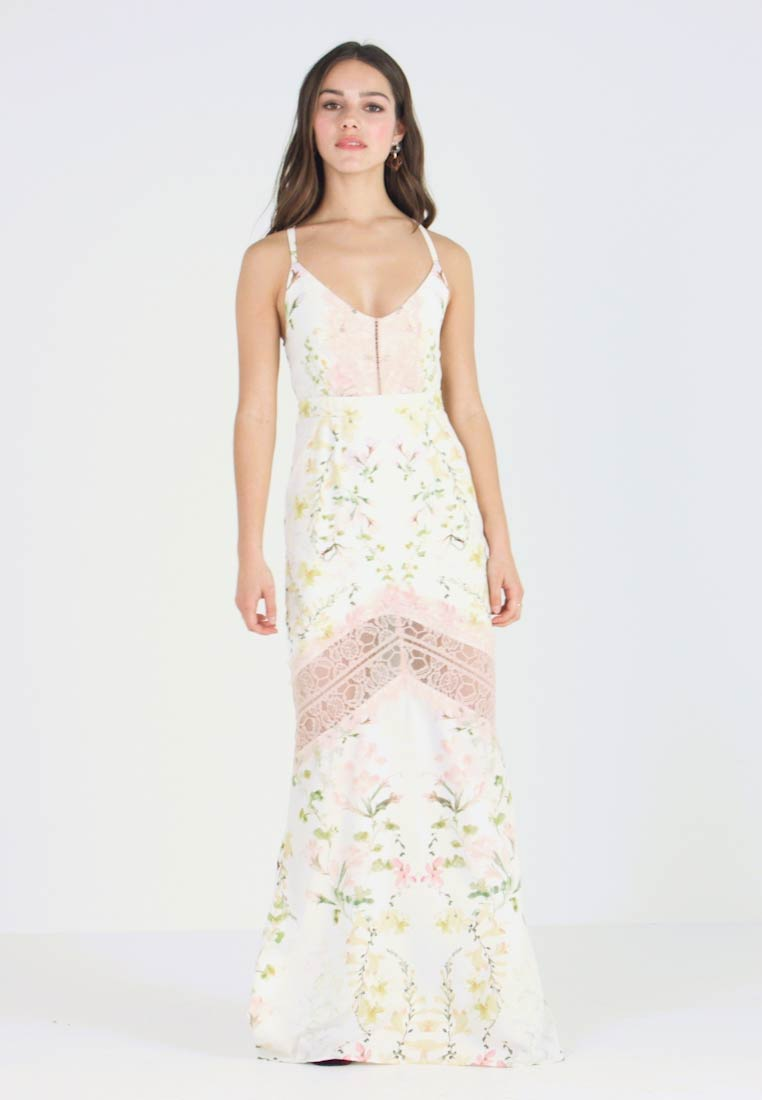 Hope & Ivy Petite - FLORAL FISH TAIL WITH CROCHET TRIM - Maxi šaty - offwhite - 1