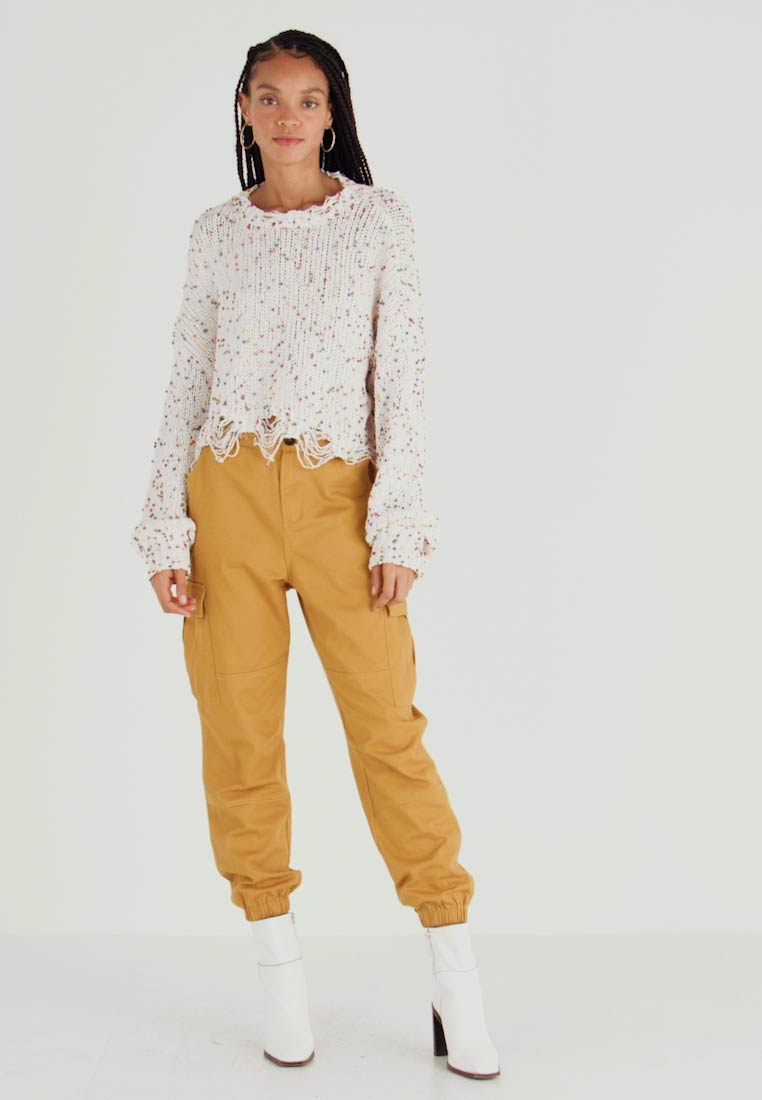 Honey Punch - JOGGER PANTS WITH - Broek - mustard - 1