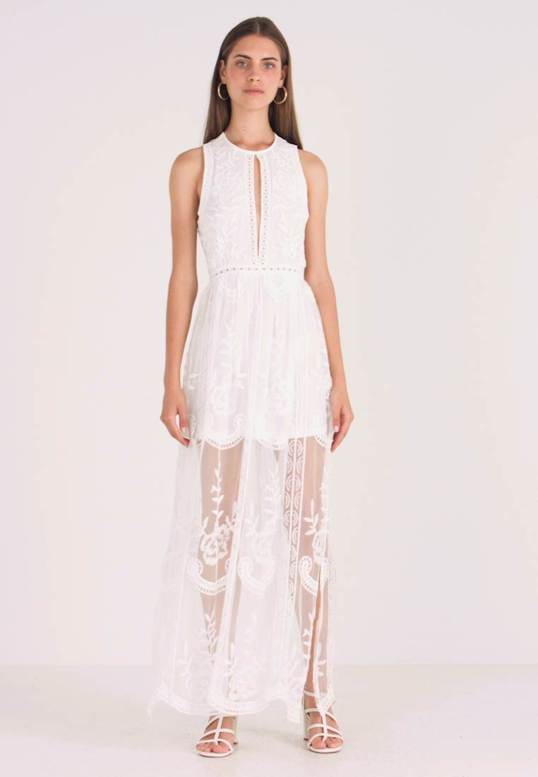 Honey Punch - HALTER NECK DRESS - Vestido largo - white - 1