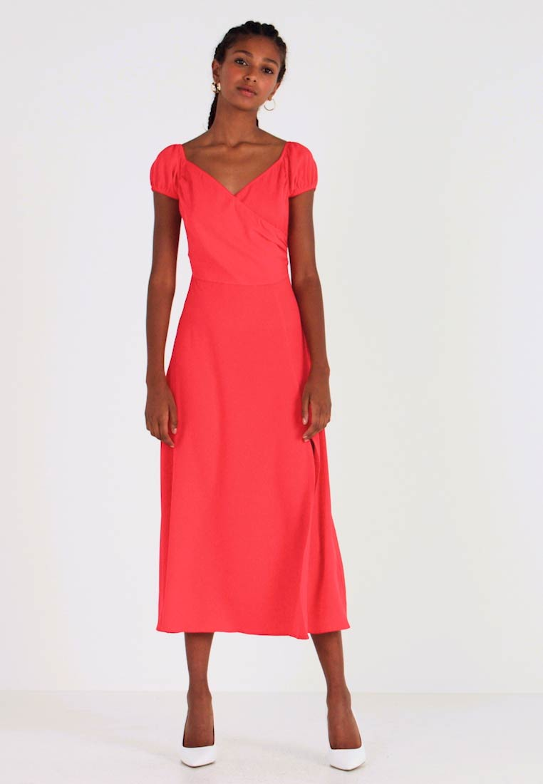 Honey Punch - OFF SHOULDER MAXI DRESS - Žerzejové šaty - red - 1