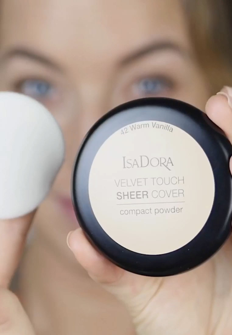 IsaDora - VELVET TOUCH SHEER COVER COMPACT POWDER - Powder - neutral almond - 1
