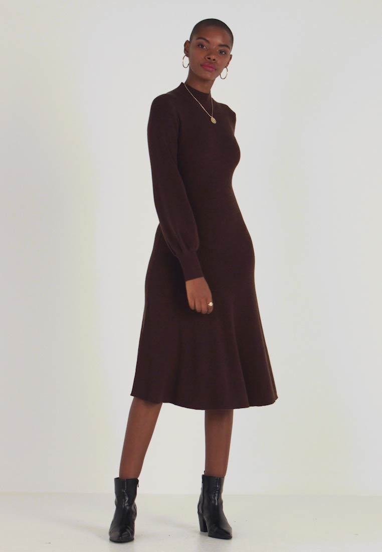 IVY & OAK - LENGTH DRESS - Gebreide jurk - dark chocolate - 1