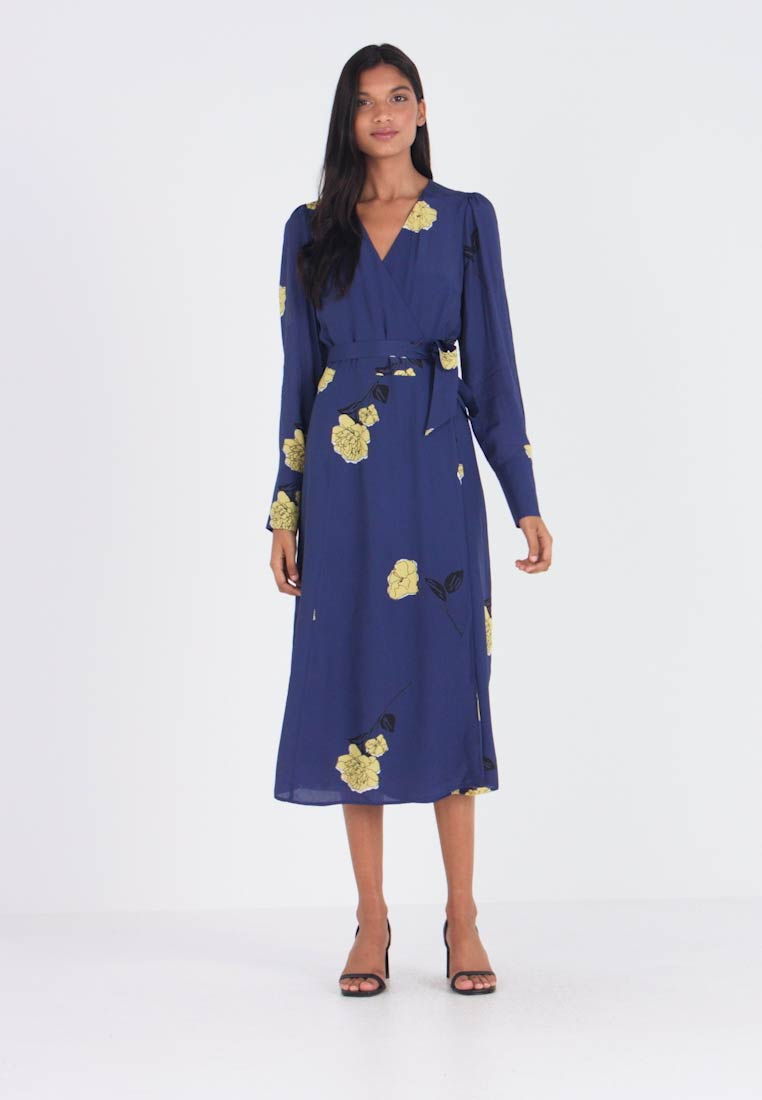 IVY & OAK - WRAP DRESS MIDI - Day dress - blue - 1