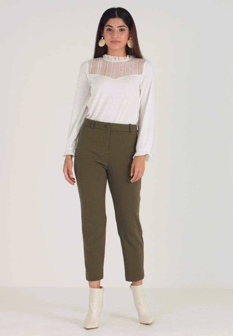 J.CREW PETITE - CAMERON SEASONLESS - Trousers - frosty olive - 1
