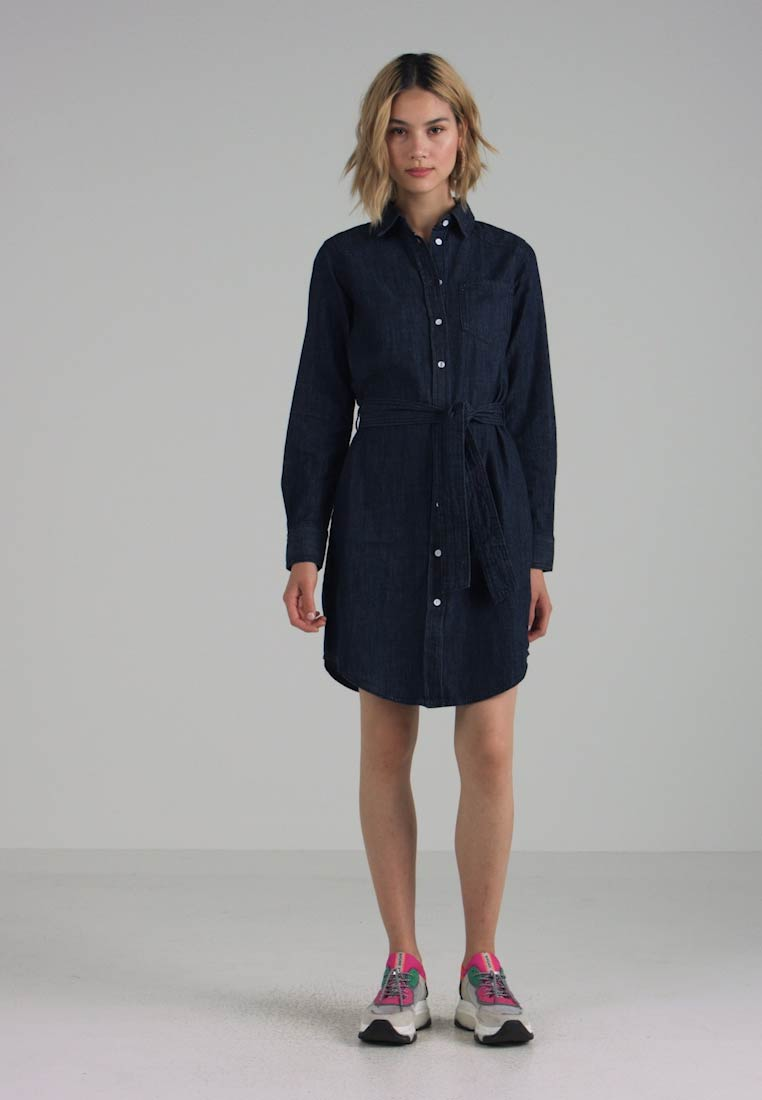JDY - JDYESRA SHIRT DRESS  - Dongerikjole - dark blue denim - 1