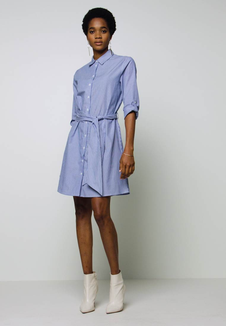 JDY - JDYHALL DRESS - Shirt dress - cloud dancer/blue - 1
