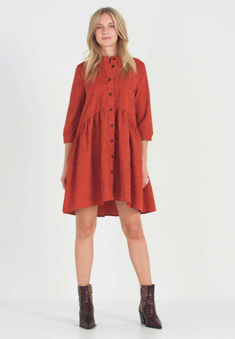 Kaffe - KACORINA - Shirt dress - picante - 1