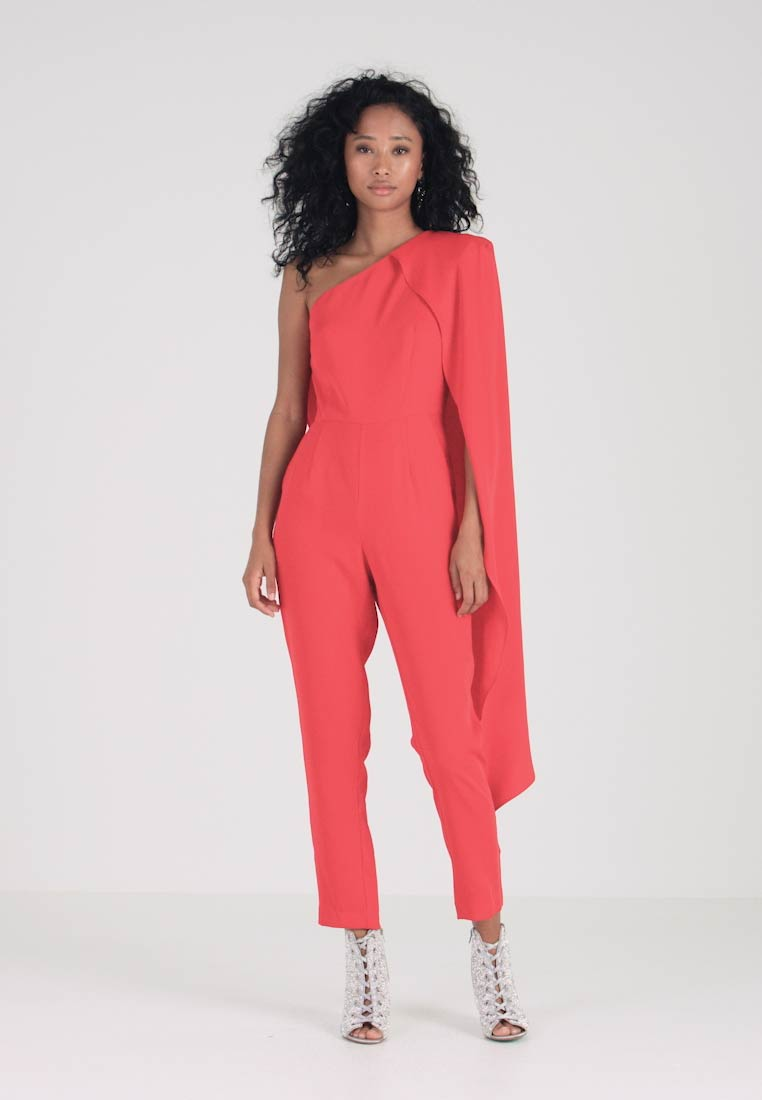 Lavish Alice - ONE SHOULDER CAPE TAILORED - Overall / Jumpsuit /Buksedragter - red - 1