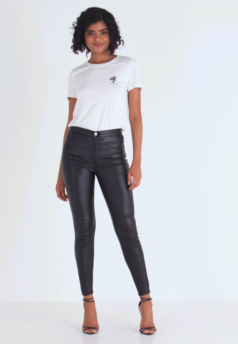 Lost Ink - HIGH WAIST - Jeggings - black - 1