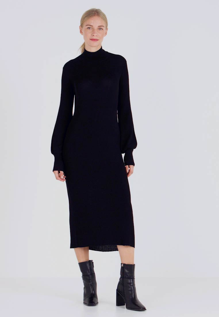 Love Copenhagen - MARIELC TURTLE NECK DRESS - Maxi dress - pitch black - 1