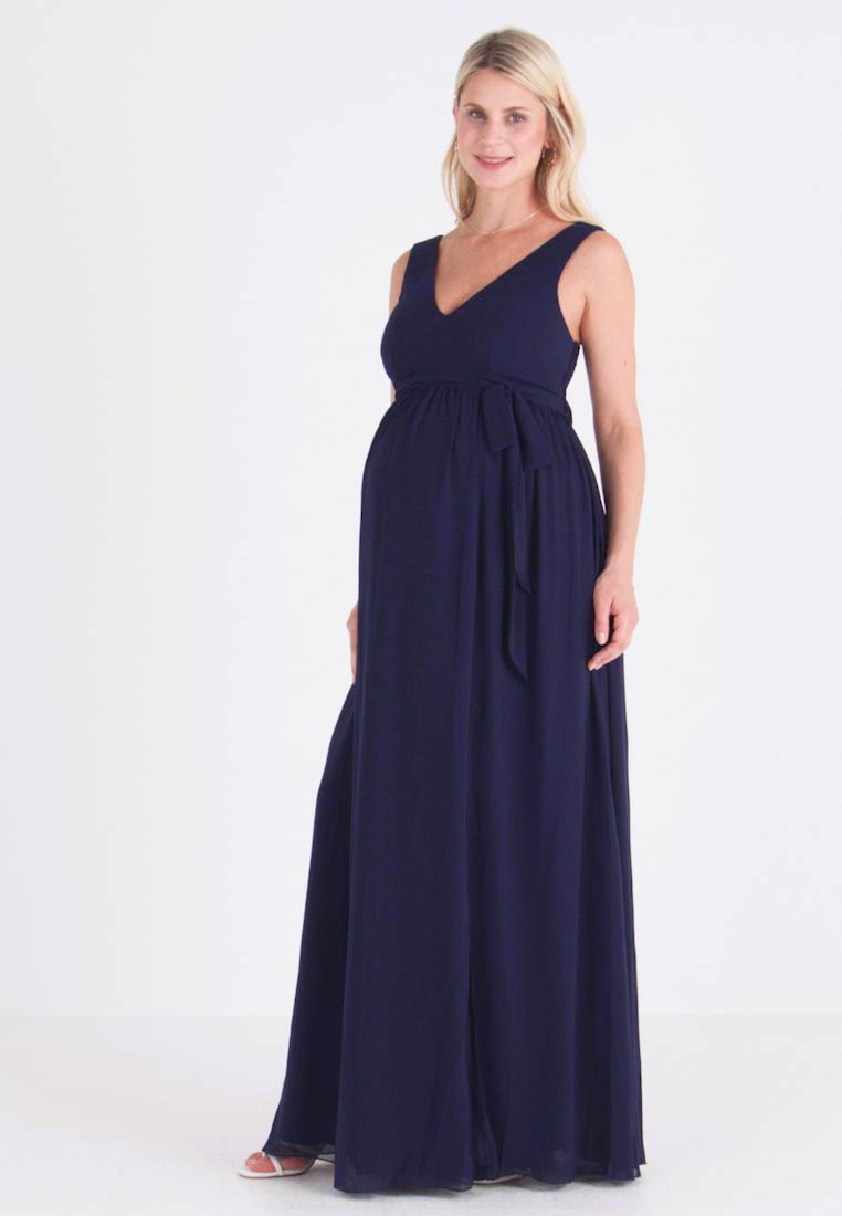 Little Mistress Maternity - EXCLUSIVE ROSE V NECK DRESS - Suknia balowa - navy - 1